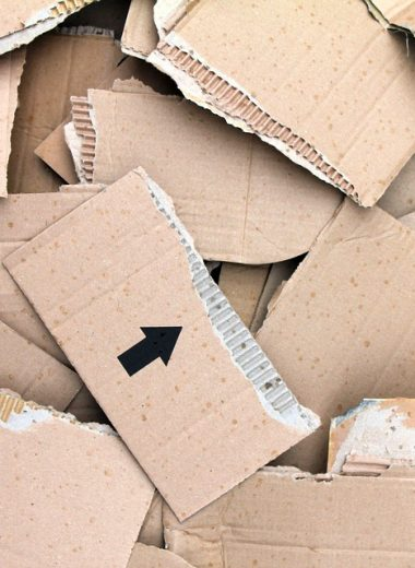 Corrugated Cardboard Torn Paper Sheets Packaging